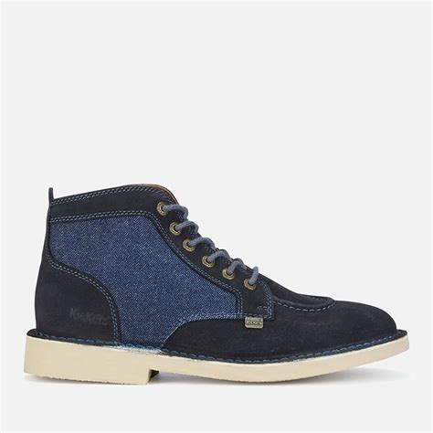 Kickers Black Suede kickers s legendary suede lace up boots blue