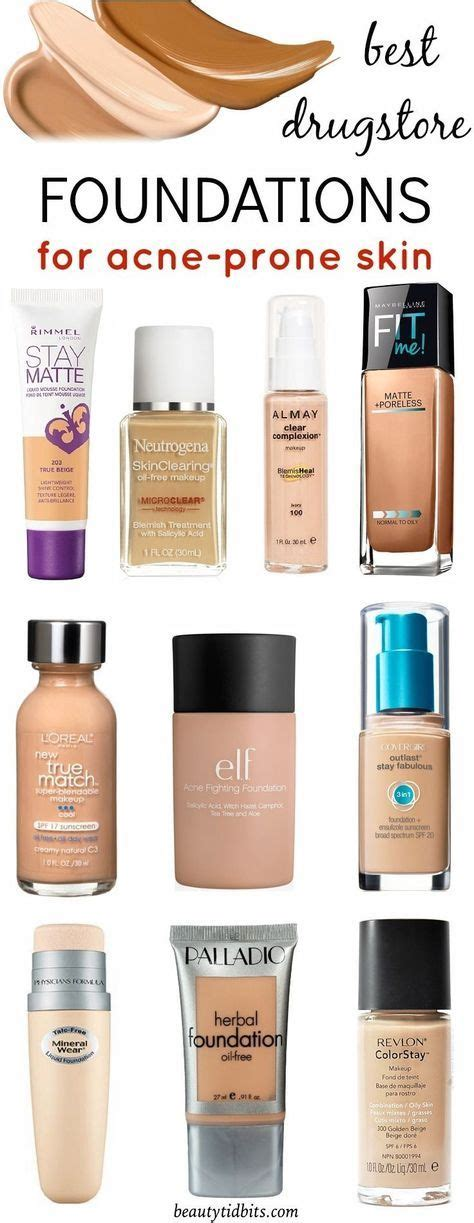 best foundation for over 60 best drugstore foundations for acne prone skin mostly