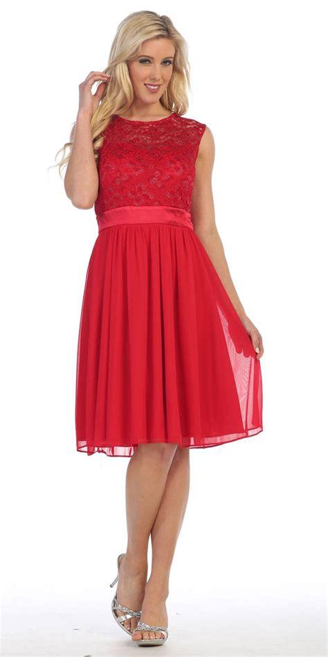 knee length sleeveless royal blue dress lace top chiffon