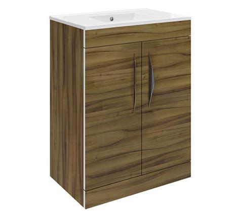 hudson reed bathroom vanity units hudson reed memoir walnut 600mm 2 door vanity unit cab194