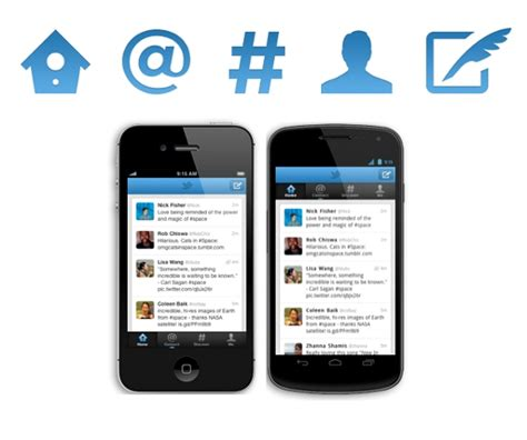 twitter iphone layout twitter for android and iphone gets new design and new