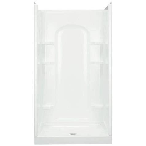 Shower Stall Products Sterling Ensemble 42 In X 34 In X 75 3 4 In Curve