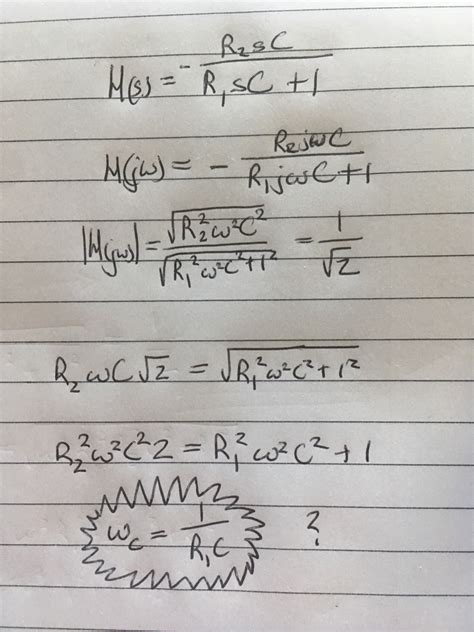 high pass filter equation derivation op high pass filter cutoff frequency derivation electronicsxchanger queryxchanger