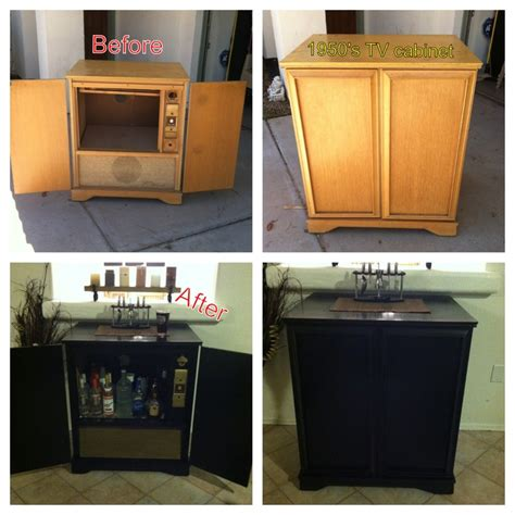 Diy Bar Cabinet Renovated 1950 S Tv Cabinet Into Home Bar Bar Diy Homebar 1950stvcabinet Revovate Kcco