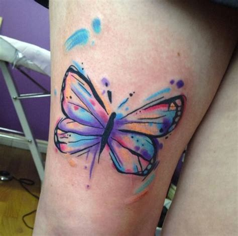 Leg Colorful beautiful colorful butterfly on leg
