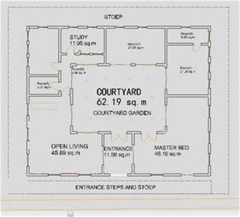small courtyard house plans small house plans courtyard ranch houses house plans