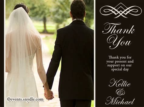 Wedding Thank You Gift Card - wedding thank you cards and greetings festival around the world