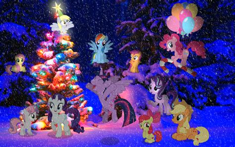 Glimmer Lights Mlp Wallpaper 2016 Pony Christmas Tree By Astrumspark On