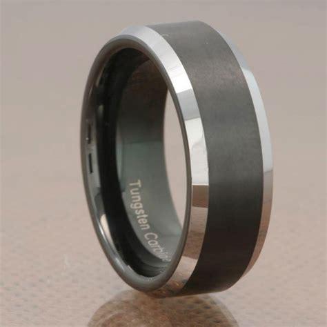 fascinating black tungsten wedding bands wedding and