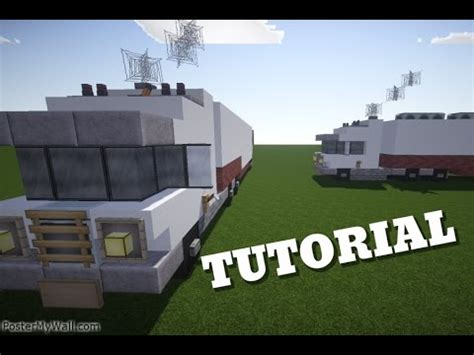 minecraft truck stop minecraft lets build truck and trailer tutorial youtube