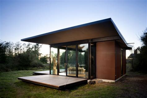 tiny modern house false bay writer s cabin olson kundig architects small