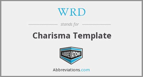 wrd charisma template
