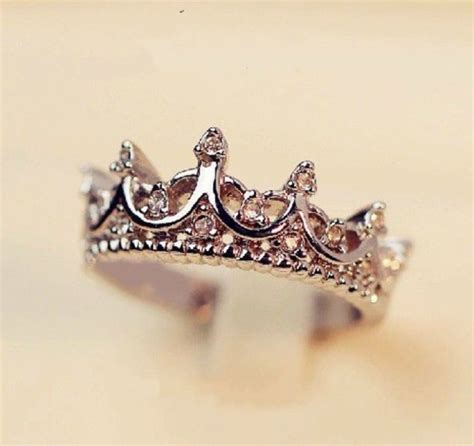 Jewels: tiara ring, ring, silver, diamonds, princess, disney, cute, girly, crown, tumblr, tumblr