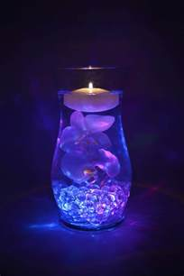 Floating Flowers In Vases 2 Rgb Submersible Led Lights