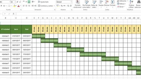 como hacer una carta gantt como hacer recetas como hacer un diagrama de gantt en excel formato