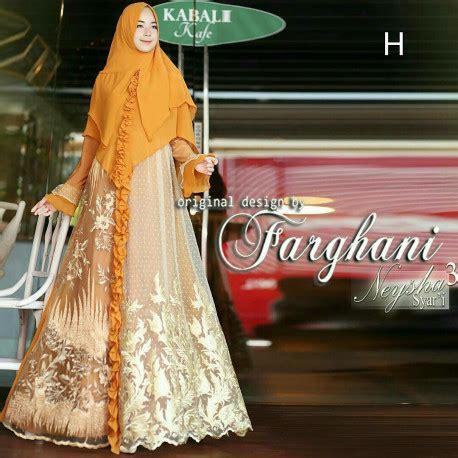 Pusat Grosir Baju Muslim Maryam Syari Jaguard 3 baju muslim syari elegan neysha vol 3 by farghani pusat grosir baju muslim
