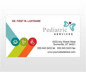 pediatric business cards pediatrician doctors office child care services business