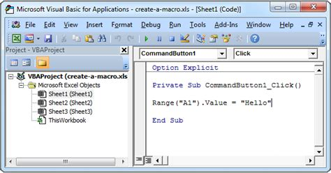 tutorial visual basic for excel create a macro in excel easy excel vba