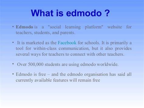 edmodo what is it edmodo presentation file