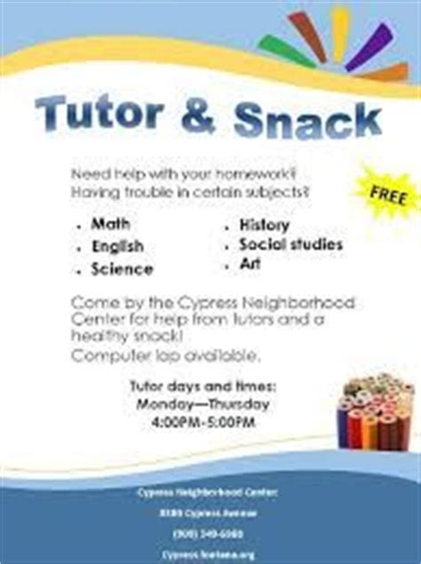 Flyers Templates Free And Flyer Template On Pinterest Tutoring Flyer Template Sle
