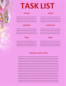 Task List Word Template Pics Photos Task List Template Word