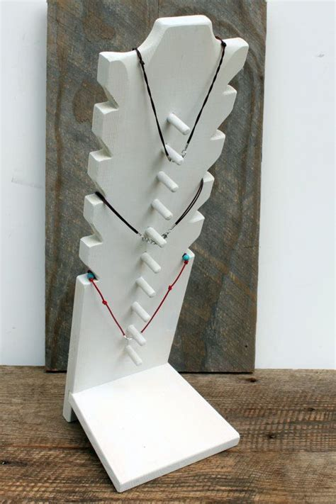 necklace display jewelry display multi tier by rusticlodgedecor http www beautifuldiy net