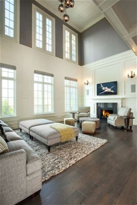 paint colors high ceilings and grey on