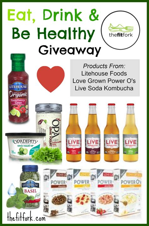 Healthy Giveaways - eat drink be healthy giveaway thefitfork com