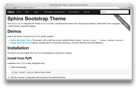 sphinx bootstrap theme updates mobile dropdowns and