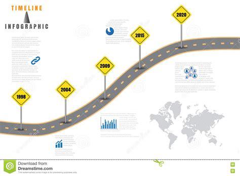 road map business timeline vector illustration stock