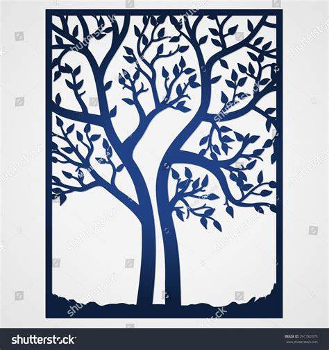 Abstract Frame Tree May Be Used Stock Vector 291782375 Shutterstock Tree Template For Cards