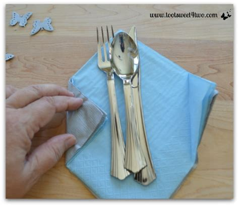 How To Fold Silverware In Paper Napkins - how to make paper napkins special toot sweet 4 two