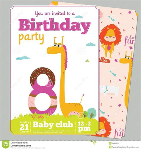5 perfect kids birthday party invitation template