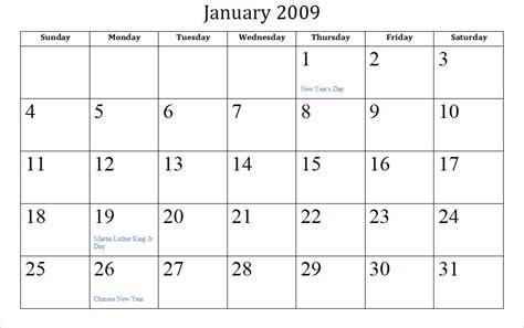 Calendar Htm 2009 Archive Calendars
