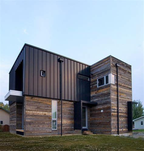 metal doors exterior flat seam metal siding exterior modern with wood soffit