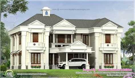 house square footage 5 bedroom colonial style home design elevation