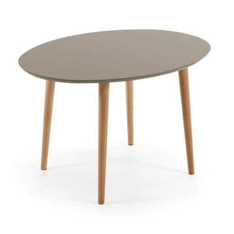 extendable wooden table oval shape ian