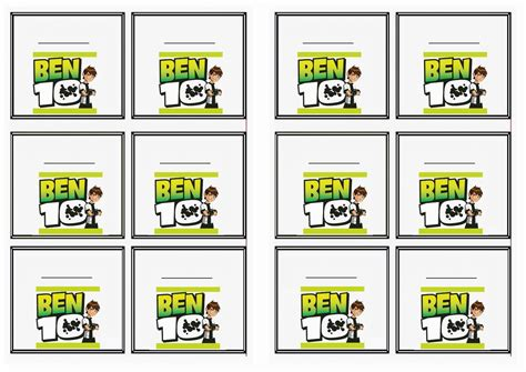 ben 10 printable party decorations ben 10 name tags birthday printable