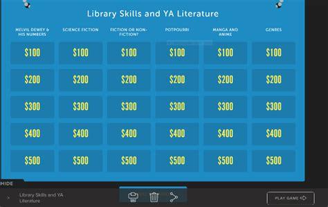 Ideas For Using Aasl Best Websites Jeopardy Rocks Ideas For Jeopardy Categories