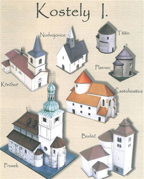 paper model craft several church paper models free templates