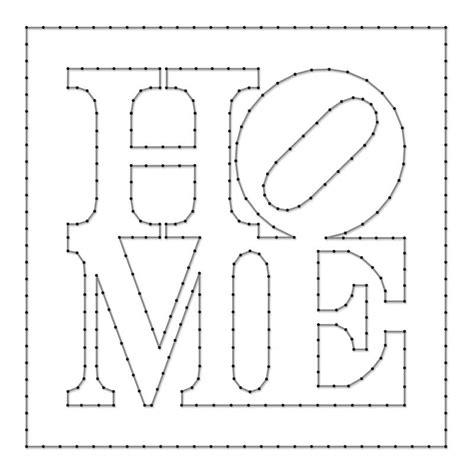 String Templates - home spijkerschriften muurteksten string