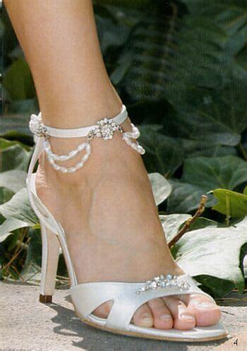 bridal style white wedding shoes
