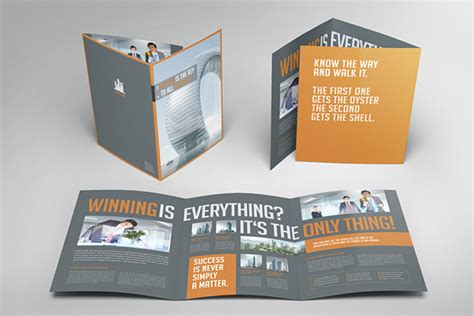 Business Image Trifold Brochure On Behance 6 Page Brochure Template