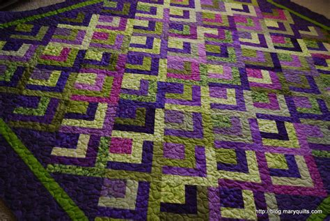 Half And Half Quilt by Half Log Cabin Maryquilts