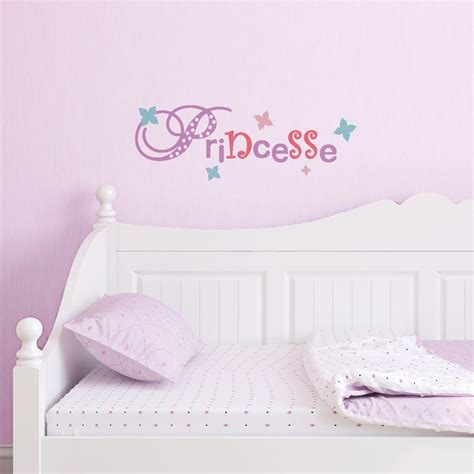 stickers chambre enfant fille sticker mural quot lettrage princesse quot motif enfant fille