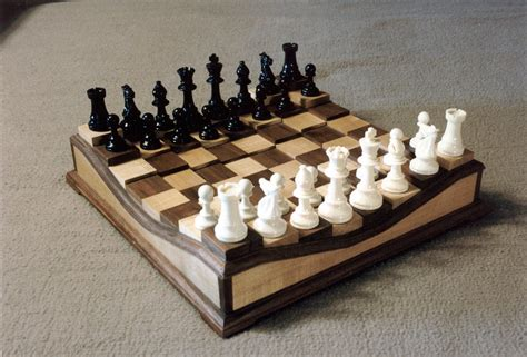 cool chess boards raised chess board by olegranddad lumberjocks com