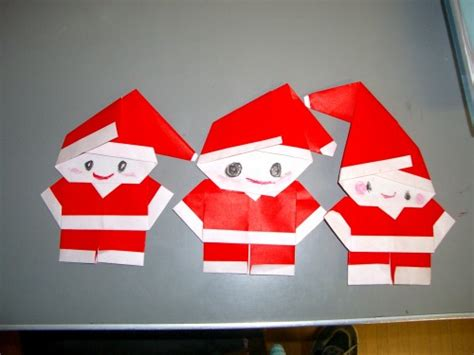Make Origami Santa Claus - kawaii easy santa claus origami decoration