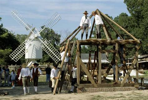Colonial Williamsburg Carpenters Construct Buildings of
