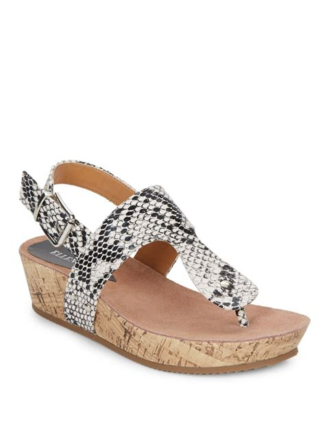 tracy sandals tracy inga embossed wedges in black lyst