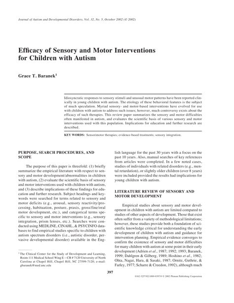research papers on autism literature review topics on autism